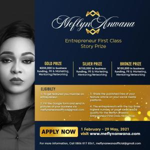 Winners emerge in Meflyn Anwana Entreprenuer First Class Story Prize Competition