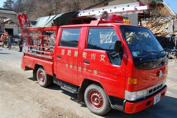 女川町消防団の緊急車両