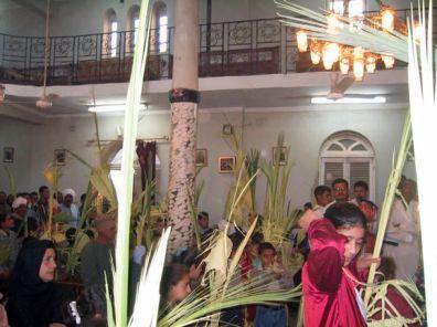 Palmsonntag in der Kirche in Berba