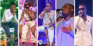 Shatta Wale, Sarkodie, Ebony, Stonebwoy & Joe Mettle in the race for Artiste of the Year at 2018 VGMAs
