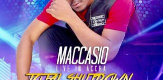 "Maccasio to rock Bukom Arena with ""Total Shutdown"" concert October 28"