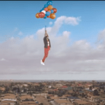 Shatta Wale launches himself into the sky in 'My Level' music video