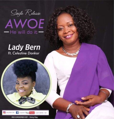 Lady Bern ft Celestine Donkor Awoe art