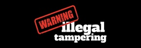 Warning - Illegal Tampering