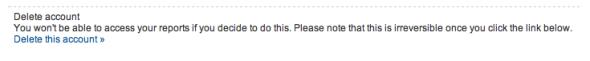 Delete Google Analytics Account