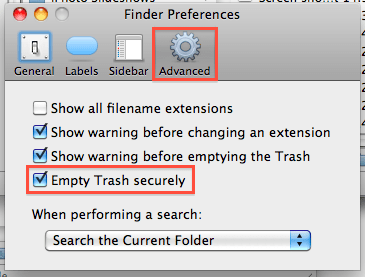 Advanced Finder Preferences