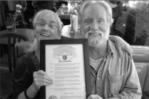 Jami and John Allen Cassady with Mayor's Proclamation at 2011 Bash