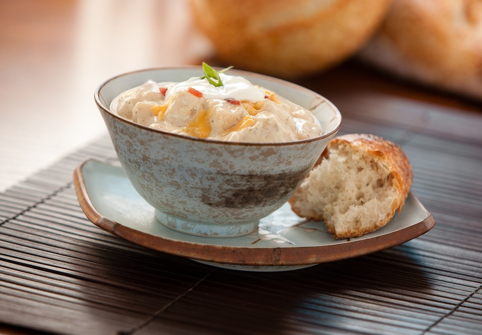 Baked Potato and Cheese Soup