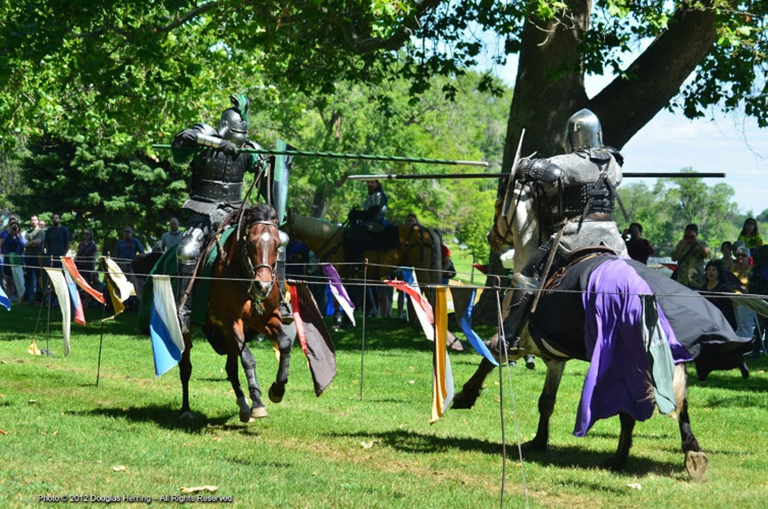 Knights Jousting Seattle 1500