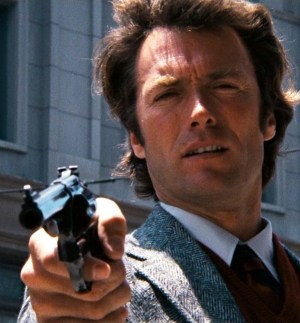 Leaving Forests: photo of Clint Eastwood in the movie DIRTY HARRY.