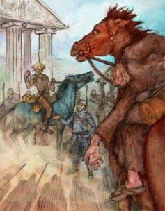 Illustration for Neal Stephenson's Mongoliad