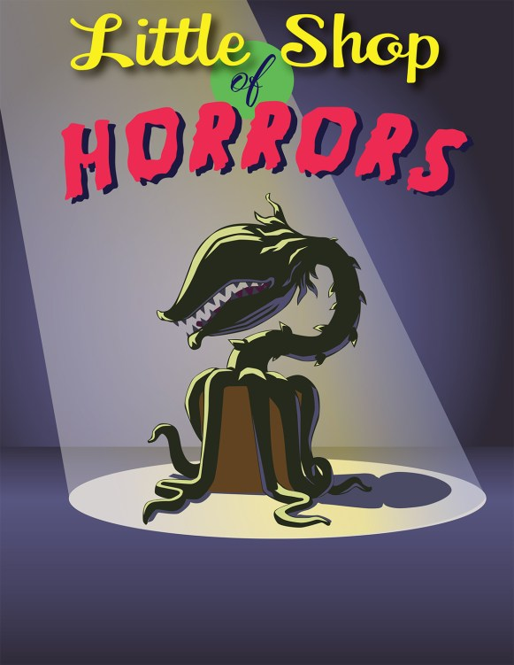 Little Shop of Horrors flyer art