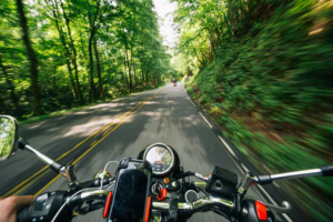 a motorbike on the road