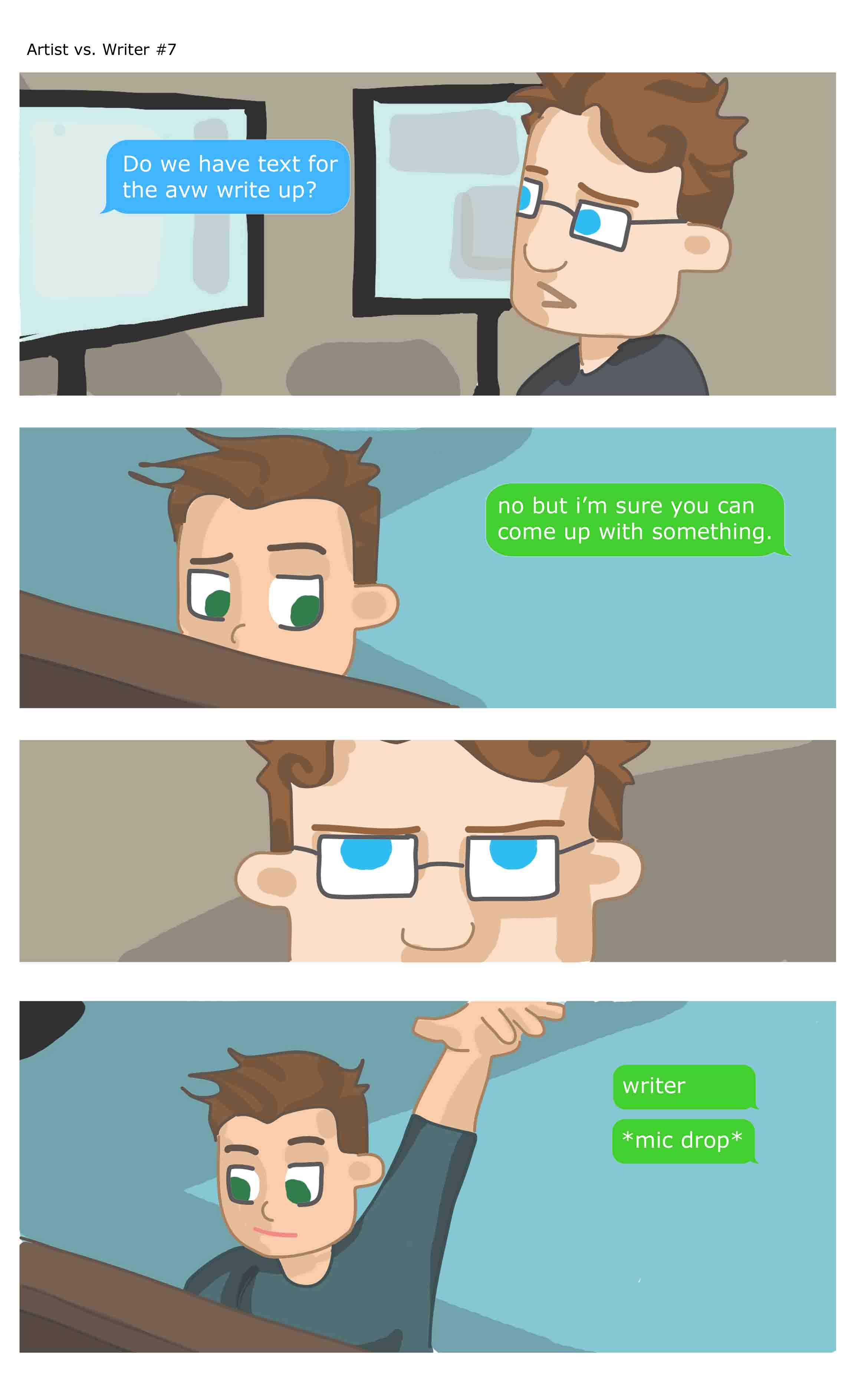 Artist vs Writer 7