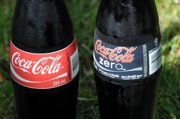 Coke in glass bottles