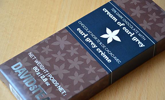 Davids Tea Cream of Earl Grey chocolate bar
