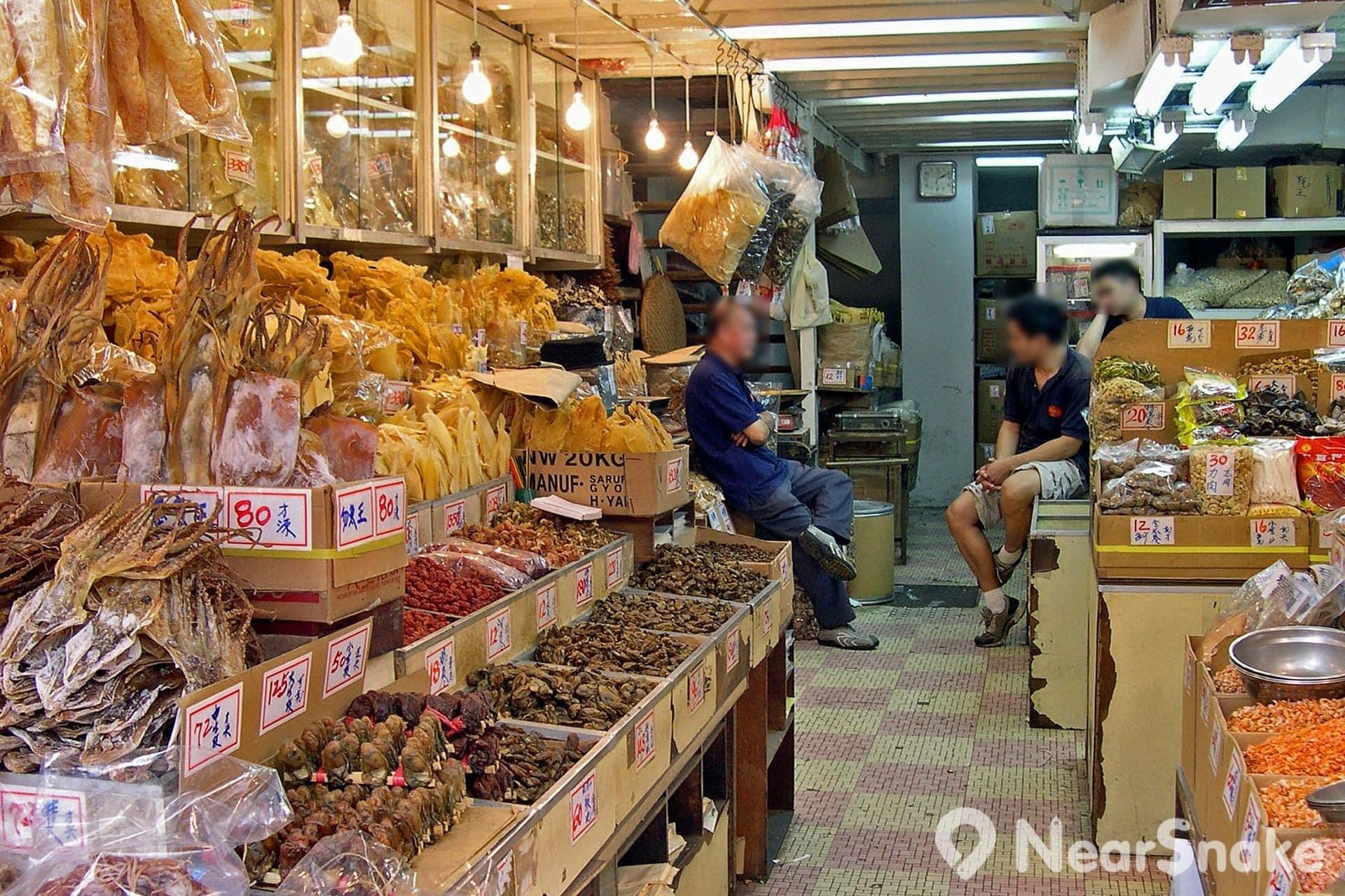 海味參茸燕窩街(德輔道西,永樂街,文咸西街)Dried Seafood Street and Tonic Food Street:香港上環南北行聚集地 | NearSnake.com