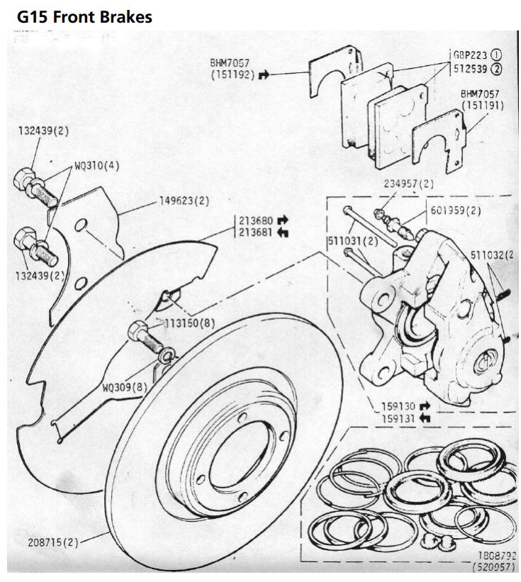 Ginetta G15 technical guide brakes + suspension