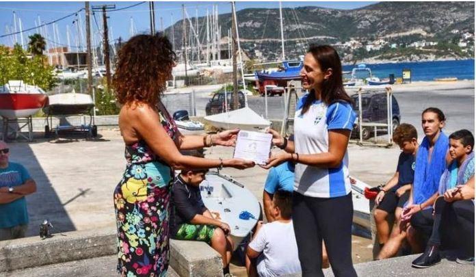 «Βίρα τις άγκυρες» -Η Χάλκινη Ολυμπιονίκης Σοφία Παπαδοπούλου στη Σάμο