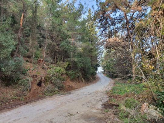 Προσοχή: Κατολισθητικά φαινόμενα με αποκόλληση μεγάλων βράχων στο δρόμο της Στήνιας