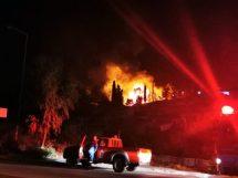 Πυρκαγιά στο ΚΥΤ Βαθέος στη Σάμο