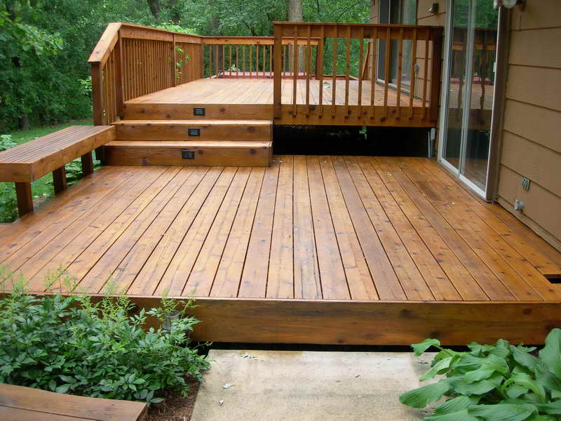 simple backyard woden deck