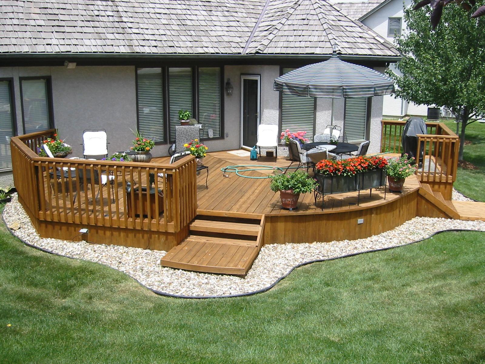 Wooden Deck Backyard