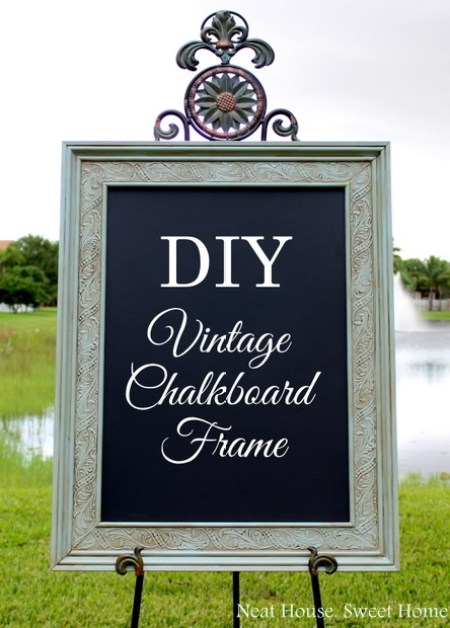 DIY Vintage Frame Chalkboard for a Wedding