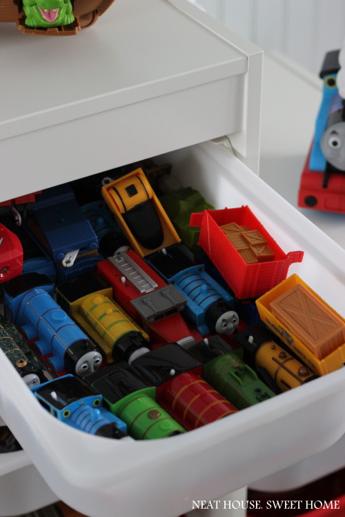 Toy organization using Ikea trofast