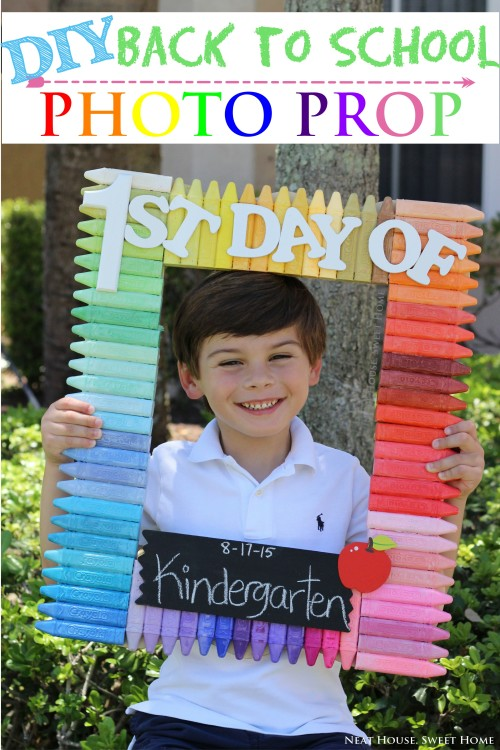 back to school photo prop diy neat house sweet home