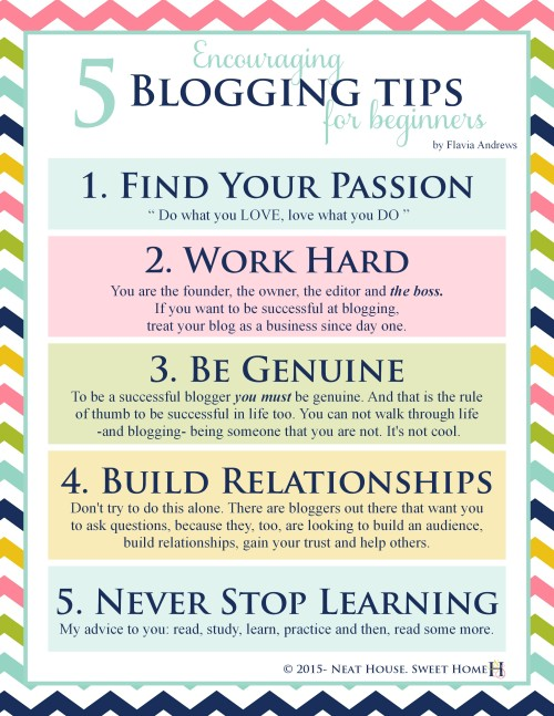Read my 5 keys to blogging success and grab this infographic for FREE!