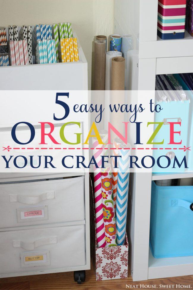5 easy ways to organize your craftroom