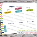 How To Organize Your Home - Free Printable