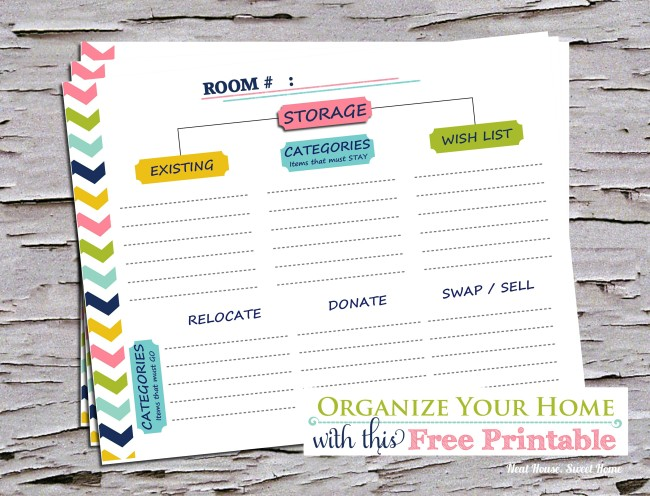 Download this free printable home organization guide, and learn how to tackle the job without the overwhelm.
