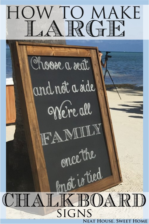 how to make a large chalkboard sign neat house sweet home