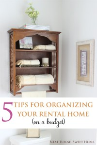 Organizing Your Rental Home On a Budget – Teaser