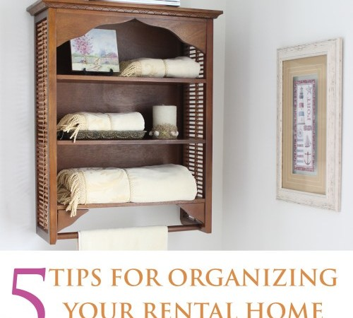 You can save space and be organized in your rental home, without sacrificing style or your pocket!