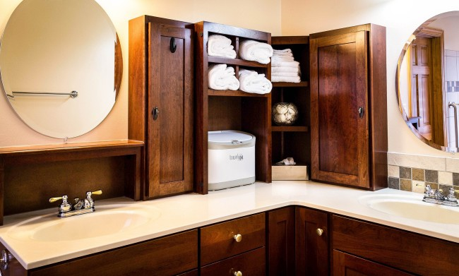 Perfect There is no need to make huge changes in the appearance of the bathroom u it