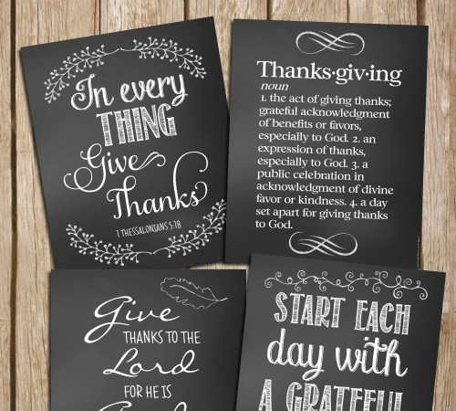 Free Thanksgiving Chalkboard Art Printables