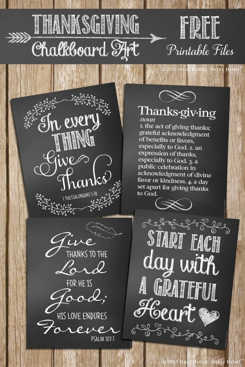 Free Thanksgiving Chalkboard Art