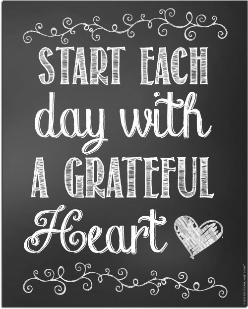Start Each Day With A Grateful Heart - Neat Free Printable