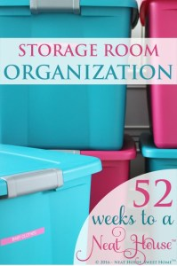 Week 2 of 52: Storage Room Organization