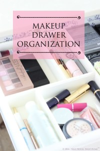 Toss old makeup, clean your brushes, sort the things you are keeping and decorate.