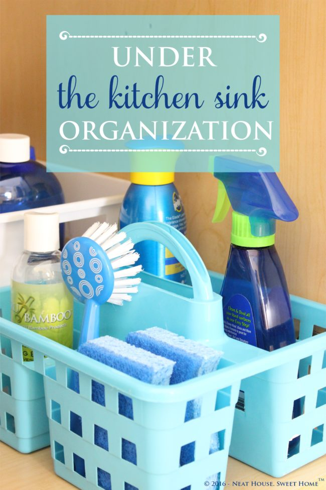 This under the kitchen sink organization is quick and inexpensive. I don't know what took me so long. Check out this dollar store organization and storage items.