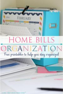 Dedicate some time to organize your personal bills. I will teach you how to create a home bills organization nook, to make bill pay easier.