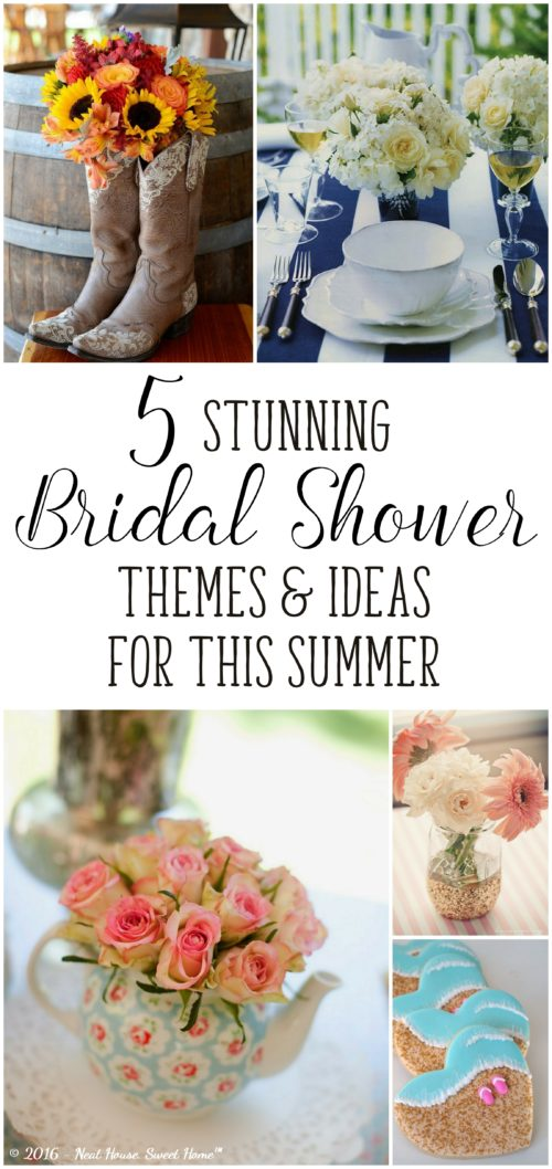 Great ideas for beautiful bridal showers to celebrate outdoors this summer!