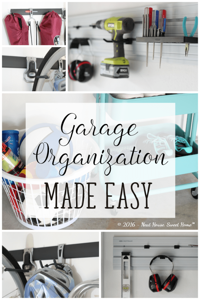 How to organize your garage in a weekend. Using vertical storage in garage walls
