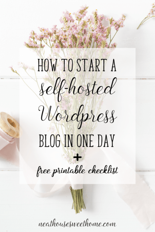 How to Start a Self-Hosted WordPress Blog