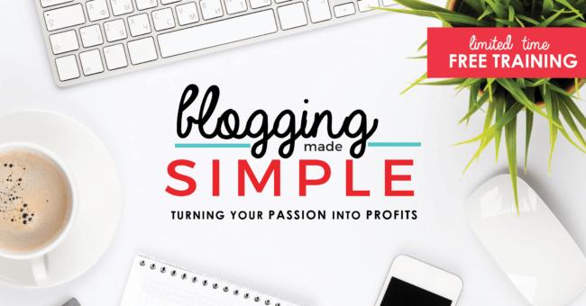 Blogging Made Simple Free Training
