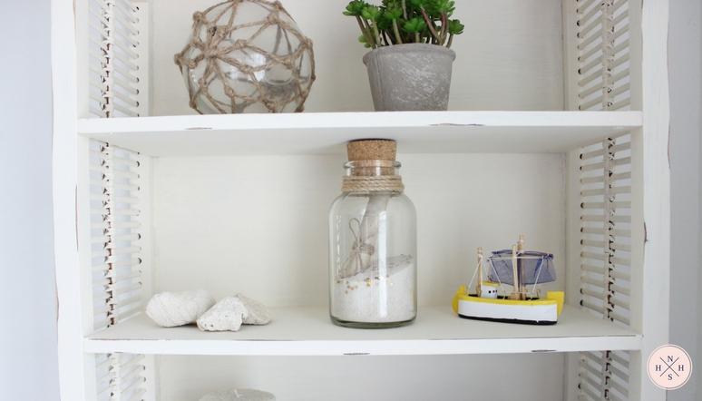 DIY Shabby Chic Bathroom Cabinet